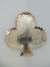 with Jack of Clubs, London 1885 Playing Cards Suit Solid Silver Pin Tray