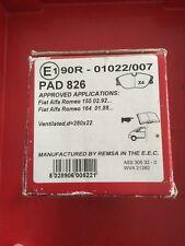 Pad 826 APEC Pastillas De Freno para adaptarse a la parte delantera de Alfa 155 2.5 V6, Fiat Coupe Lucas Pinza