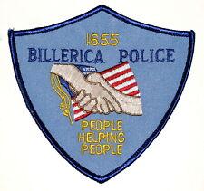 New listing Billerica Massachusetts Ma Sheriff Police Patch Handshake Us Flag Vintage Old ~