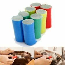 50pcs Magic Stainless Steel Metal Scrub Brush Rust Remover Clean Detergent Stick
