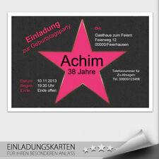 Einladungskarten Geburtstag ● VIP Karte ● Ticket Eintrittskarte ● 10 20 30 40 50