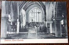 Unused Vintage John Price Postcard Interior Clent Church