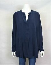 Country Road Blue Silk Top - Womens - Size L