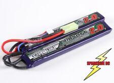 Airsoft Battery Lipo Nano-Tech 2000Mah 2S 7.4v 15C - 25C Lipo Pack - Mini Tamiya