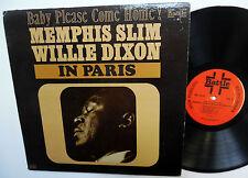 MEMPHIS SLIM Willie Dixon in PARIS LP Baby Please Come Home 1969 Blues
