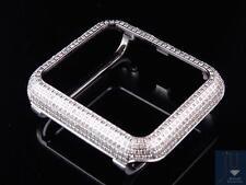 Stainless Steel Apple I-Watch Genuine Diamond watch Case 42MM Bezel case 2.50ct