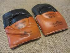 Vintage Cooper Hockey Goalie Elbow Pads > Antique Old Sports Canada Leather 9012