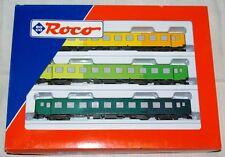 """ROCO set 3 vagoni """" Regenbogenzug """" art. 44106 HO"""