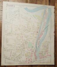 Antigüedad Mapa - 3 De Nashua - Hillsborough Condado -Nuevo Hampshire- 1892