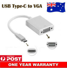 USB-C USB 3.1 Type-C Male to VGA Monitor Projector Adapter Cable For Macbook 12""
