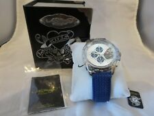 HTF  New Ed Hardy Blue Dragster BL-DR Watch
