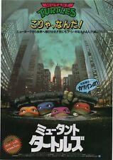 Teenage Mutant Ninja Turtles 1990 Japanese Chirashi Movie Flyer Poster B5