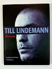 Eichborn TILL LINDEMANN - MESSER Hardcover RAMMSTEIN German Edition Z1/9.0 VF/NM