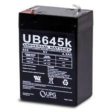 UPG 6V 4.5AH SLA Battery Replaces cp0660 gp645 lcr6v4p hk-3fm4.5