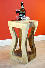 Side Table Plant Stand Acacia Wood Flower Stand Solid Wood Night Table Square