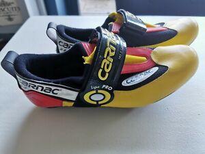 Carnac Ligne Pro TRS 5 Carbon Triathlon Cycling Shoes Sz 43 Mens/Womens
