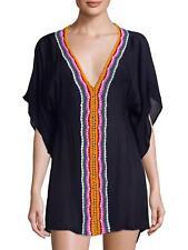 Nanette Lepore Women s Peace Love Embroidered Caftan Coverup Medium M 2c6071ca421d