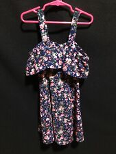 Girls Size 7 Floral Dress By Beautees Guc
