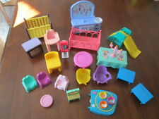 Assorted lot of Mixed Doll House Furniture #2 Little Tikes, Fisher Price & other