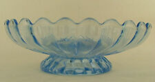 Imperial Glass Pillar Flute 682 Blue Foot Bowl Compote