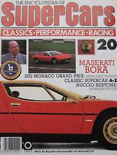 SUPERCARS magazine Issue 20 Featuring Maserati Bora cutaway drawing & poster