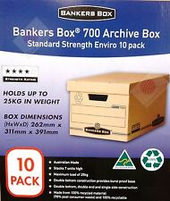 10 Pack Fellowes Bankers Box Standard Strength(25kg) Storage/File/Archive Boxes
