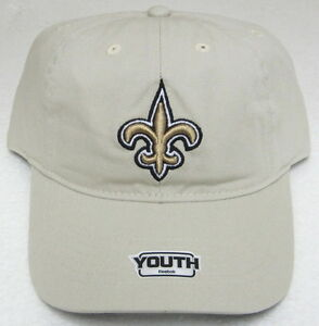 NFL New Orleans Saints Putty Youth Slouch Adjustable Hat By Reebok