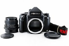 【Exc+++++】PENTAX 67 II AE Finder + SMC 67 105mm F2.4 Late Model Lens From Japan