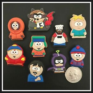 9 Shoe Charms for Crocs SOUTH PARK Eric Kenny Kyle Stan Chef Coon Butters Stan