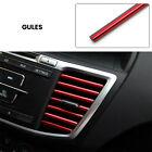 PVC Red Car Air Conditioner Outlet Vent Grille Decor Molding Trim Strip 20CM photo