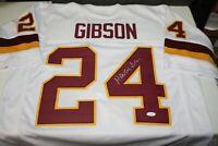WASHINGTON FOOTBALL TEAM ANTONIO GIBSON #24 SIGNED STITCHED WHITE JERSEY JSA WIT