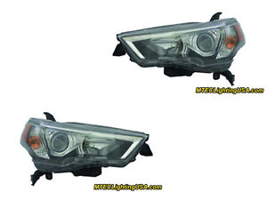 TYC Right & Left Sides Halogen Headlight Assembly For Toyota 4Runner 2014-2015