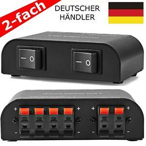 Profi Lautsprecher Schalter Umschalter Umschaltbox Switch Umschaltpult 2 fach