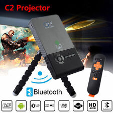 CSC2 Smart DLP WiFi Mini Projector Full HD1080P4K BT LED Porjector HDMI USB VGA