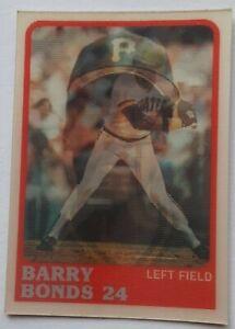 1988 Sportflics Barry Bonds #119 Pirates RARE HTF VERY UNDERATED SET