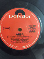 ABBA DOES YOUR MOTHER KNOW/KISSES OF FIRE rare SINGLE INDIA INDIAN VG+