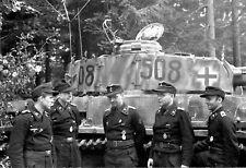 WW2 Photo WWII German Tank Crew with Panzer IV H  World War Two Germany  / 2526