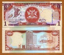 TRINIDAD AND TOBAGO 1 DOLLAR 2014 BANCONOTA MOLTO RARA DA COLLEZIONE FDS UNC