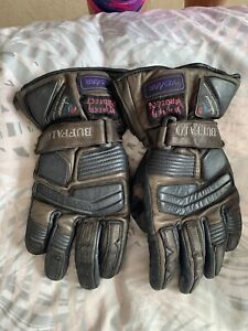 Leather Motorcycle Motorbike Gloves size M