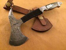 Handmade Blacksmith Damascus Steel-Axe-Bush Craft-Camping-Outdoor-JD43