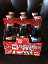FIFA 1994 World Cup Soccer Coke Coca Cola 6 Pack Glass Bottle GERMANY USA BRAZIL