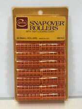 """RARE Vintage Goody 9574/3 Snap-Over Rollers 20 Pack Pink Small 1/2"""" USA NOS"""