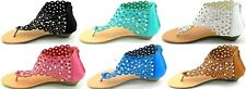 Women T Strap Rhinestone Party Wear Gladiator Small Wedge Sandals Shoes Sz 5-10