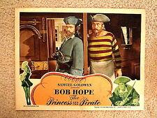 PRINCESS & THE PIRATE(1944)  BOB HOPE & VICTOR MCLAGLEN ORIGINAL LOBBY CARD