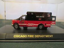 Code 3 Chicago FD Ford E350 Special Operations Unit 561 1:64 #12062