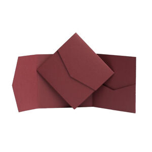 Pocketfold Invitations YOUR COLOUR Square invites. DIY Wedding Cards Pocket Fold