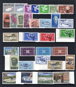 CYPRUS QE11 1960-1964 MOUNTED MINT SMALL HINGE REMAIN SETS & SHORT SETS CAT £45