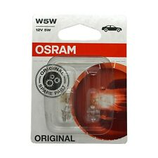 2  x  Osram 501 W5W Car Sidelight Side Light Bulb 12v 5w Push Fit 2825-02B