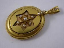 wunderschöner Medallion - Anhänger um 1880 Gold 750 Handarbeit