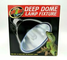 Zoo Med Deep Dome Light Fixture Pet Reptile Terrarium Heat Lamp Socket Blk Lf-17